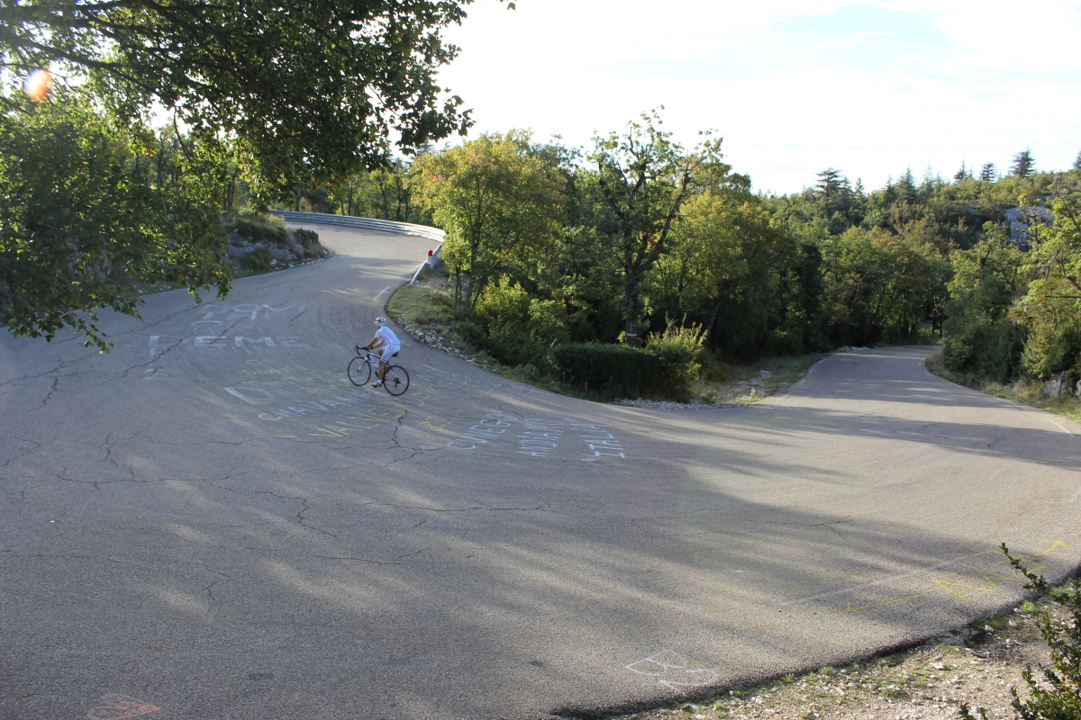 hairpin turn, mont ventoux